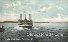 shi009266 - Lake Champlain Burlington, Vermont, VT USA Steam Ship Postcard Post Cards