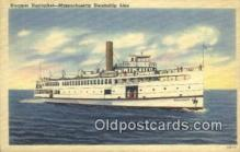 shi009268 - Steamer Nantucket, Massachusetts Steamline  Steam Ship Postcard Post Cards