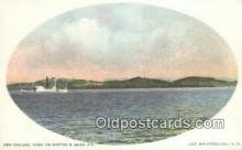 shi009270 - New England Views on Boston And Maine RR, Lake Winnipesaukee, New Hampshire, NH USA Steam Ship Postcard Post Cards