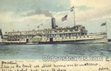 shi009273 - Steamer Toronto, Thousand Islands, New York, NY USA Steam Ship Postcard Post Cards