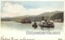 shi009274 - Towing ON The Hudson River, New York NY USA Steam Ship Postcard Post Cards