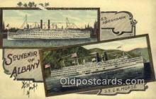shi009276 - SS C.W. Morse, Albany, New York, NY USA Steam Ship Postcard Post Cards