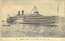 shi009278 - Steamer Hendricks Hudson, New York, NY USA Steam Ship Postcard Post Cards