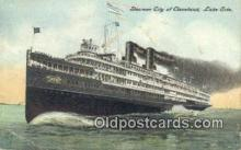 shi009304 - Steamer City Of Cleveland Steam Ship Postcard Post Cards