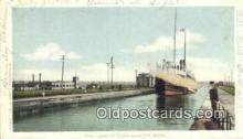 shi009307 - Canadian Locks, Marie, Michigan, MI USA Steam Ship Postcard Post Cards