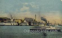 shi009308 - Harbor, Detroit, Michigan, MI USA Steam Ship Postcard Post Cards
