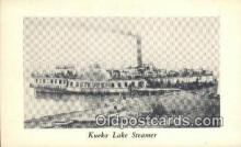 shi009310 - Kueka Lake Steamer, Wm L Hasley, Brooklyn, New York, NY USA Ferry Postcard Post Card Old Vintage Antique