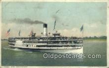 shi009312 - Steamer Greyhound Ferry Postcard Post Card Old Vintage Antique