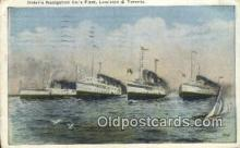 shi009314 - Ontario Navigation Companies Fleet, Lewiston And Toronto, Canada Steam Ship Postcard Post Cards