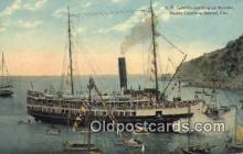 shi009317 - SS Cabrillo Landing AT Avalon Santa Catalina Island, California, CA USA Steam Ship Postcard Post Cards