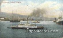 shi009321 - The Harbor, Portland, Oregon, OR USA Steam Ship Postcard Post Cards
