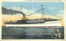 shi009324 - Steamer Avalon, Catalina Island, California, CA USA Steam Ship Postcard Post Cards