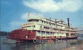 shi009328 - Sternwheeler, Ohio River, Owensboro, Kentucky, KY USA Ferry Postcard Post Card Old Vintage Antique