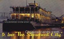 shi009332 - The Goldenrod Showboat, St Louis, Missouri, MO USA Ferry Postcard Post Card Old Vintage Antique
