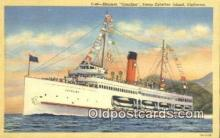 shi009333 - Steamer Catalina, Catalina Island, California, CA USA Steam Ship Postcard Post Cards
