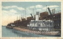 shi009347 - Glimpse Of The C And O Coal Loading Whaleback Barges, Newport News, Virginia, VA USA Steam Ship Postcard Post Cards