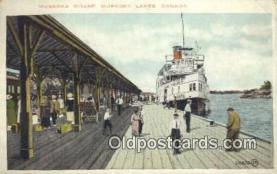 shi009369 - Muskoka Wharf, Muskoka Lakes, Canada, USA Steam Ship Postcard Post Cards