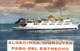 shi009372 - Algeciras Gibraltar Steam Ship Postcard Post Cards