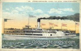 shi009373 - Steamer Greyhound, Toledo, Cedar point Steam Ship Postcard Post Cards