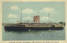 shi009374 - CN Rlys, Car Ferry, Charlottetown, Cape Tormentine, NB Steam Ship Postcard Post Cards
