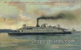 shi009375 - Ferry Boat, San Francisco Bay, California, CA USA Steam Ship Postcard Post Cards