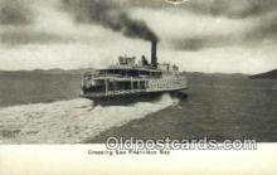 shi009376 - San Francisco Bay, California, CA USA Steam Ship Postcard Post Cards