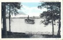 shi009377 - Steamer Leaving Harrison, Maine ME USA Steam Ship Postcard Post Cards