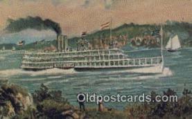 shi009382 - Steamboat, Robert Fulton, Albany, New York, NY USA Steam Ship Postcard Post Cards