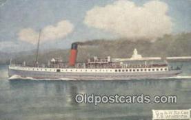 shi009384 - TS Atalanta Steam Ship Postcard Post Cards