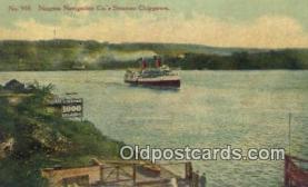 shi009392 - Steamer Chippewa, Niagara Navigation Company Steam Ship Postcard Post Cards