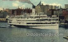 shi009393 - Steamer Greyhound, Leaving Toldeo,Ohio, OH USA Steam Ship Postcard Post Cards