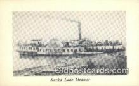 shi009394 - Kueka Lake Steamer, Wm L Hasley, Brooklyn, New York, NY USA Steam Ship Postcard Post Cards