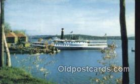 shi009396 - Steamer Ticonderoga, Lake Champlain, Shelburne, Vermont, VT USA Steam Ship Postcard Post Cards
