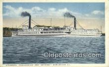 shi009397 - Steamers Ticonderoga And Vermont, Burlington, Vermont, VT USA Steam Ship Postcard Post Cards