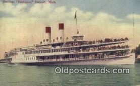 shi009398 - Steamer Tashmoo, Detroit, Michigan, MI USA Steam Ship Postcard Post Cards