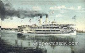 shi009399 - Steamer Tashmoo, Detroit, Michigan, MI USA Steam Ship Postcard Post Cards