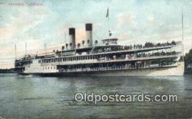 shi009401 - Steamer Tashmoo, Vermont, VT USA Steam Ship Postcard Post Cards