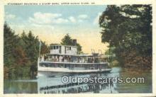 shi009404 - Steamboat On Sharp Bend, Songo River, Maine, ME USA Steam Ship Postcard Post Cards