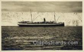 shi009406 - Real Photo SS Northwestern At Columbia Glacier, Alaska Steamship Company, AK USA Steam Ship Postcard Post Cards