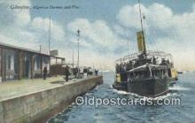 shi009408 - Gibraltar, Algeciras Steamer And Pier Steam Ship Postcard Post Cards