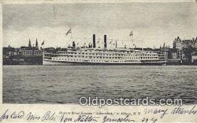 shi009410 - Hudson River Steamer Adirondack, Albany, New York, NY USA Steam Ship Postcard Post Cards