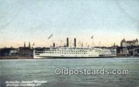 shi009411 - Hudson River Steamer Adirondack, Albany, New York, NY USA Steam Ship Postcard Post Cards