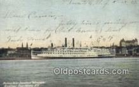 shi009412 - Hudson River Steamer Adirondack, Albany, New York, NY USA Steam Ship Postcard Post Cards