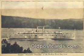 shi009413 - Steamer Alexander Hamilton, Hudson River Day Line, New York, NY USA Steam Ship Postcard Post Cards