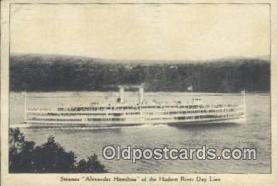 shi009414 - Steamer Alexander Hamilton, Hudson River Day Line, New York, NY USA Steam Ship Postcard Post Cards