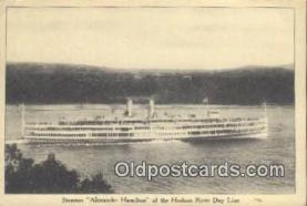 shi009415 - Steamer Alexander Hamilton, Hudson River Day Line, New York, NY USA Steam Ship Postcard Post Cards