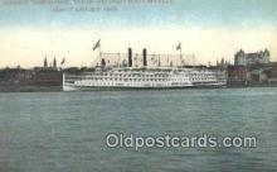 shi009416 - Hudson River Steamer Adirondack, Albany, New York, NY USA Steam Ship Postcard Post Cards