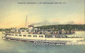 shi009417 - Steamer Mount Washington, Lake Winnipesaukee, White Mountain, New Hampshire, NH USA Steam Ship Postcard Post Cards