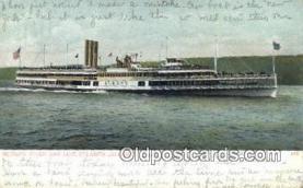 shi009419 - Hudson River Day Line Steamer, Albany, New York, NY USA Steam Ship Postcard Post Cards