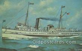 shi009422 - Joy Line Larchmont, Providence, Rhode Island, RI USA Steam Ship Postcard Post Cards